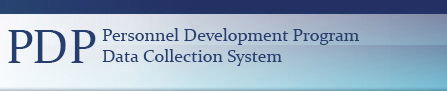 PDP (Personnel Development Program) Data Collection System